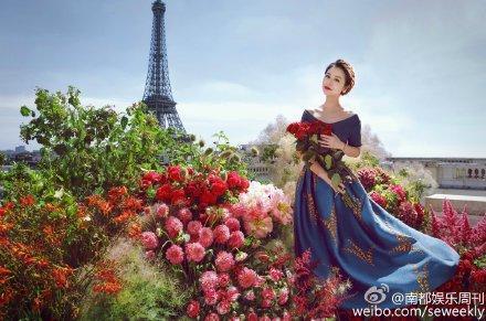 林心如 婚紗照 喜帖 圖/南都娛樂周刊微博