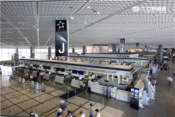 星空聯盟東京成田機場自助報到櫃檯。(圖/星空聯盟提供)