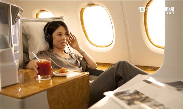 阿聯酋航空商務艙。(圖/阿聯酋航空提供)