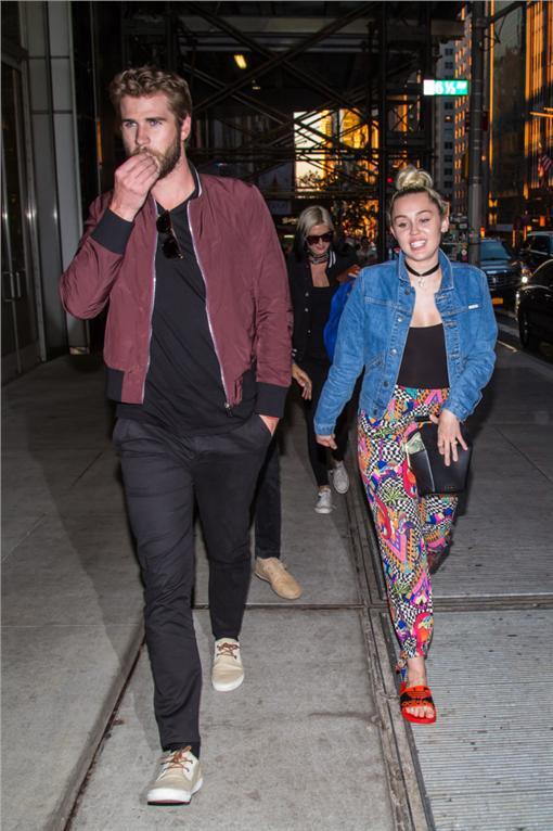 麥莉希拉,Liam Hemsworth,Miley Cyrus,連恩漢斯沃 圖/達志影像