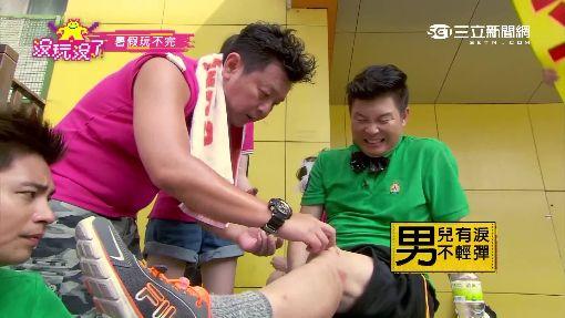 痛!腰傷復發、摔破膝蓋 曾國城錄影喊卡