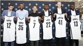林書豪,Anthony Bennett,籃網加盟記者會,NBA(ap)