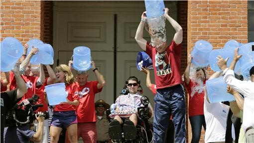 Ice Bucket Challenge,漸凍人症,ALS,冰桶挑戰圖/美聯社/達志影像