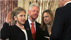 希拉蕊,柯林頓,雀兒喜,美國,總統大選 圖/美聯社/達志影像