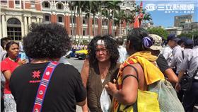 原住民族,道歉,抗議,原住民族青年陣線,原住民族日,總統府(圖/記者張之謙攝影)