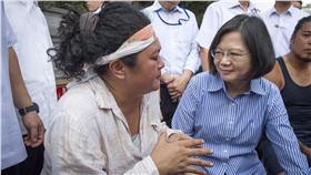 蔡英文凱道接受原住民陳情 總統府提供