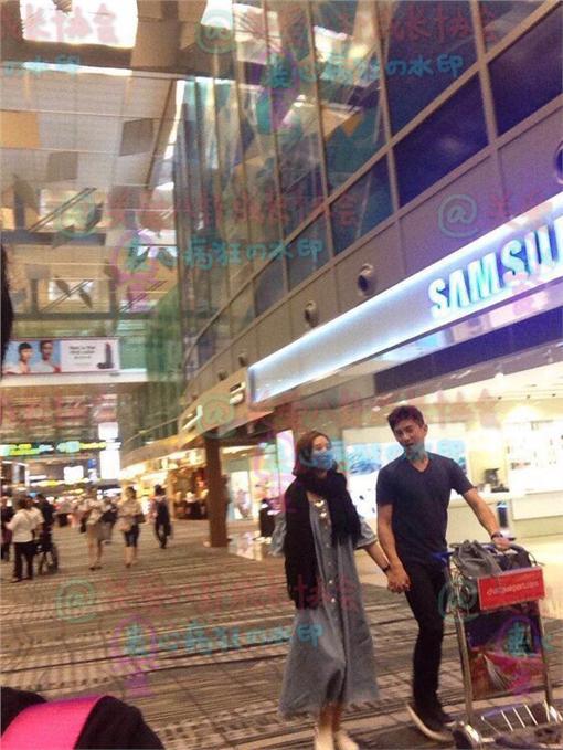 吳奇隆劉詩詩新加坡搶先過七夕/翻攝自《關愛八卦成長協會》微博