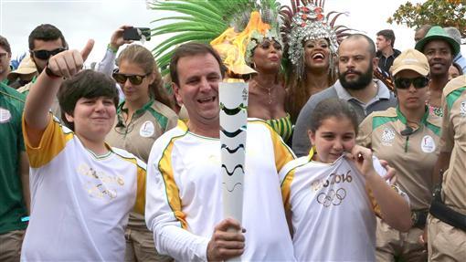里約,市長,Eduardo Paes,奧運,聖火圖/美聯社/達志影像