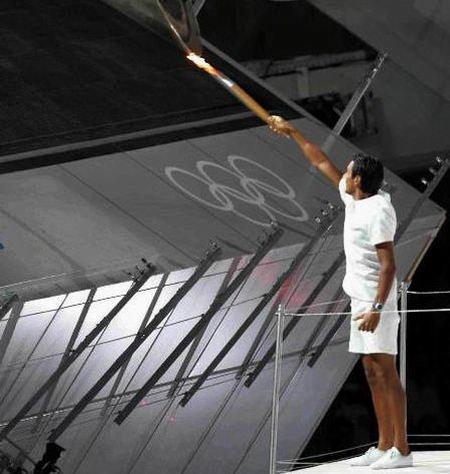 奧運開點火儀式(圖/翻攝自樂視體育)