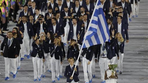 里約奧運開幕式進場,希臘(ap)