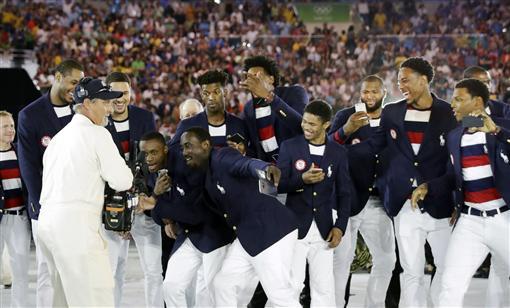 里約奧運開幕式進場,美國男籃(ap)