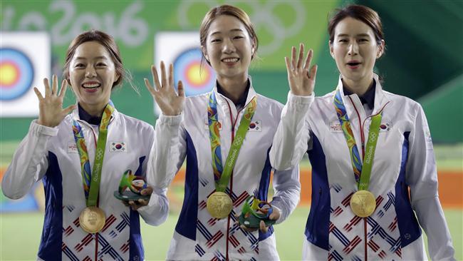 2016里約奧運,射箭,女子團體賽,南韓,金牌圖/美聯社/達志影像