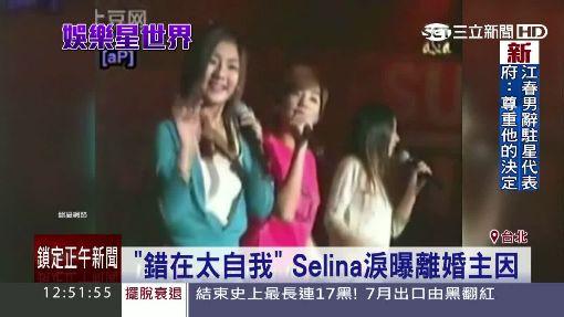 「錯在太自我」 Selina淚曝離婚主因