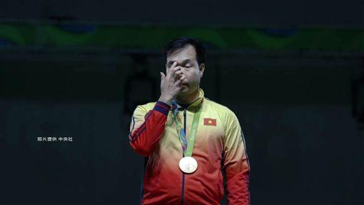 今年越南出現歷史上第一位金牌選手黃春榮 圖/中央社