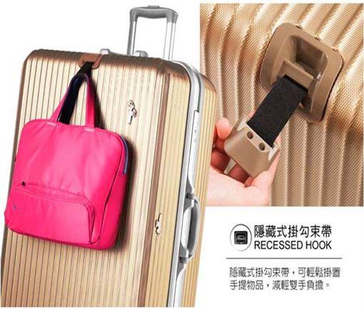 ROWANA經典傳奇鋁框硬殼行李箱(圖/電電購購物網提供)