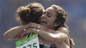 Abbey D'Agostino,Nikki Hamblin,奧運(圖/美聯社/達志影像)