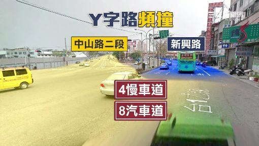 "Y字路口7天2撞 男遭追撞""貼背""摔車"