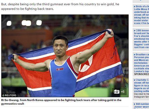 北韓選手李世光 圖/每日郵報