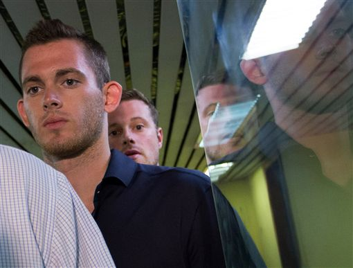 Jack Conger 美泳將、里約 奧運 洗劫 被搶 被逮捕 (AP)