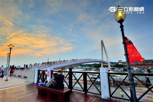 淡水漁人碼頭。(圖/新北市觀光旅遊局提供)