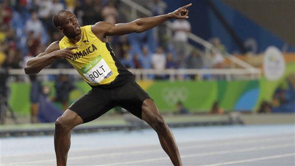 波爾特 Usain Bolt 里約 奧運 短跑(AP)