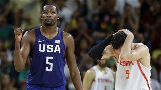 美國男籃擊退西班牙 和塞爾維亞爭金