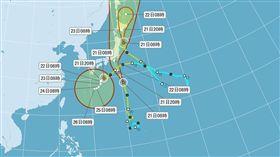 第10號輕颱「獅子山」 中央氣象局