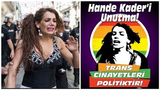 土耳其LGBT維權變性女子遭姦殺 民眾遊行討公道圖/取自irmakbostan、la_wa推特
