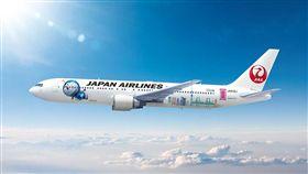 日本航空哆啦A夢彩繪機。(圖/翻攝自日航中國網站)