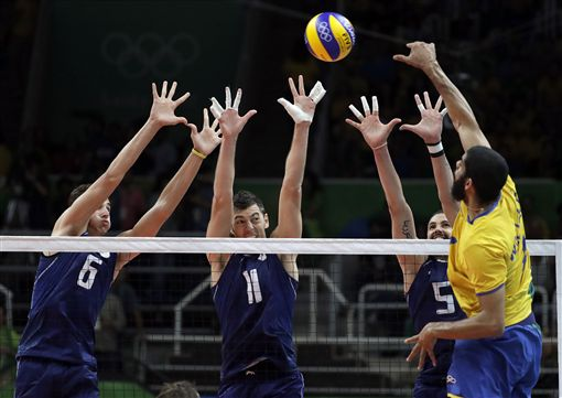 里約奧運男排 巴西vs義大利/達志影像/美聯社