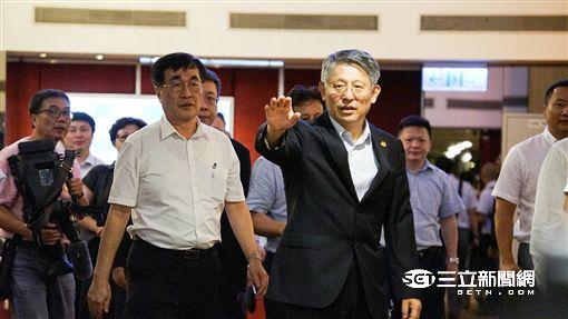 沙海林,朱立倫,雙城論壇,新北市政府 記者林敬旻攝