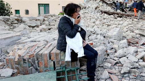 義大利中部6.2強震16:9(圖/路透社/達志影像)