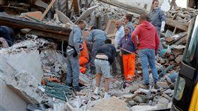 義大利中部6.2強震(圖/路透社/達志影像)