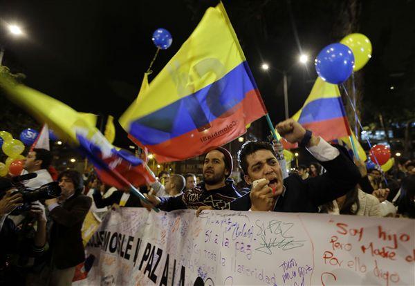 哥倫比亞政府與反政府武組織「哥倫比亞革命軍」(FARC)達成和平協議_美聯社