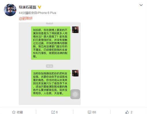 劉樂妍 石筱磊 圖/微博