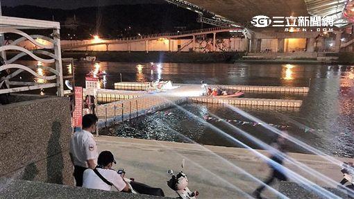 藍色公路外包員工落河失蹤(翻攝畫面)