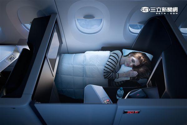 達美航空全新套房式「達美至臻商務艙」。(圖/達美航空提供)