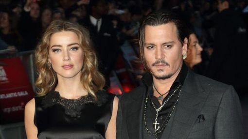 強尼戴普,安柏赫德,Johnny Depp,Amber Heard 圖/達志影像