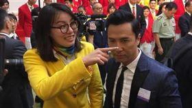 甄子丹,傅園慧(圖/翻攝自甄子丹微博) http://tw.weibo.com/donnieyen/4013367851034889