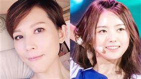 蔡少芬PO鼻子凹陷照,林娜榮意外被洗白。(圖/左翻攝自蔡少芬微博、右翻攝自維基百科)