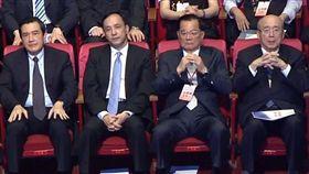 國民黨歷任黨主席:馬英九(左起)、朱立倫、連戰、吳伯雄(圖/翻攝自YouTube)