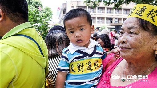 許厝居民行政院抗議 圖/記者林敬旻攝