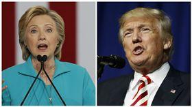 美國總統大選,川普,希拉蕊,Hillary Clinton,Donald Trump,民調 圖/美聯社/達志影像
