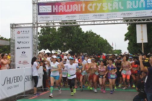水晶遇見夏威夷!全台最時尚路跑福隆開賽