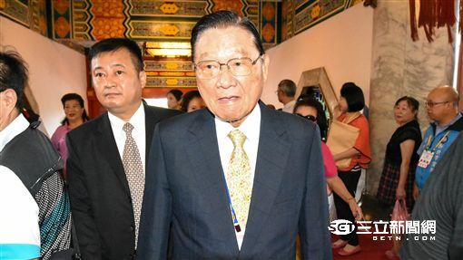 國民黨全代會 大頭 江丙坤 記者林敬旻攝