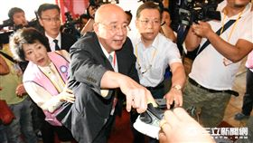國民黨全代會 大頭 吳伯雄 記者林敬旻攝