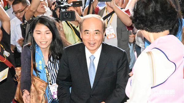 國民黨全代會 大頭 王金平 記者林敬旻攝