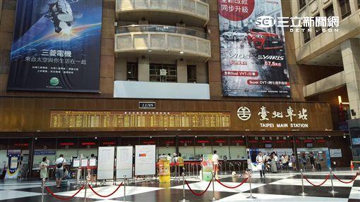 台鐵,台北車站,大廳圖/記者張碧珊攝影