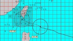 第14號颱風莫蘭蒂、強颱(圖/氣象局)