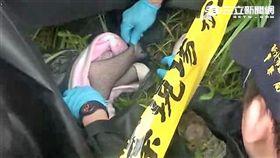 汐止區南陽街涵洞棄置的一具女屍竟是矽膠情趣娃娃(翻攝畫面)
